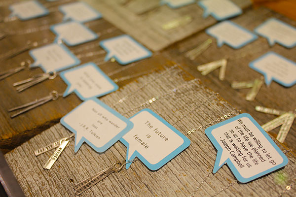 Inspiring Quote Necklaces from Island Farm