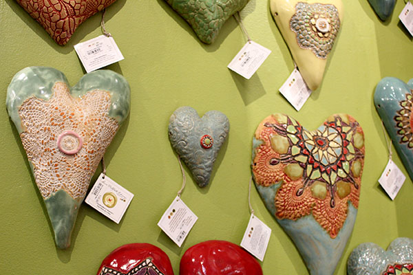 Heart Plaques from Boulder Arts & Crafts Gallery