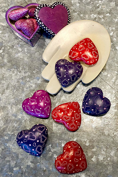 Soapstone Hearts from Momentum