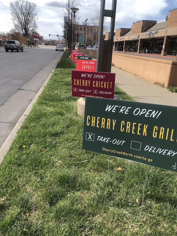 Cherry Creek North Restaurant Signs