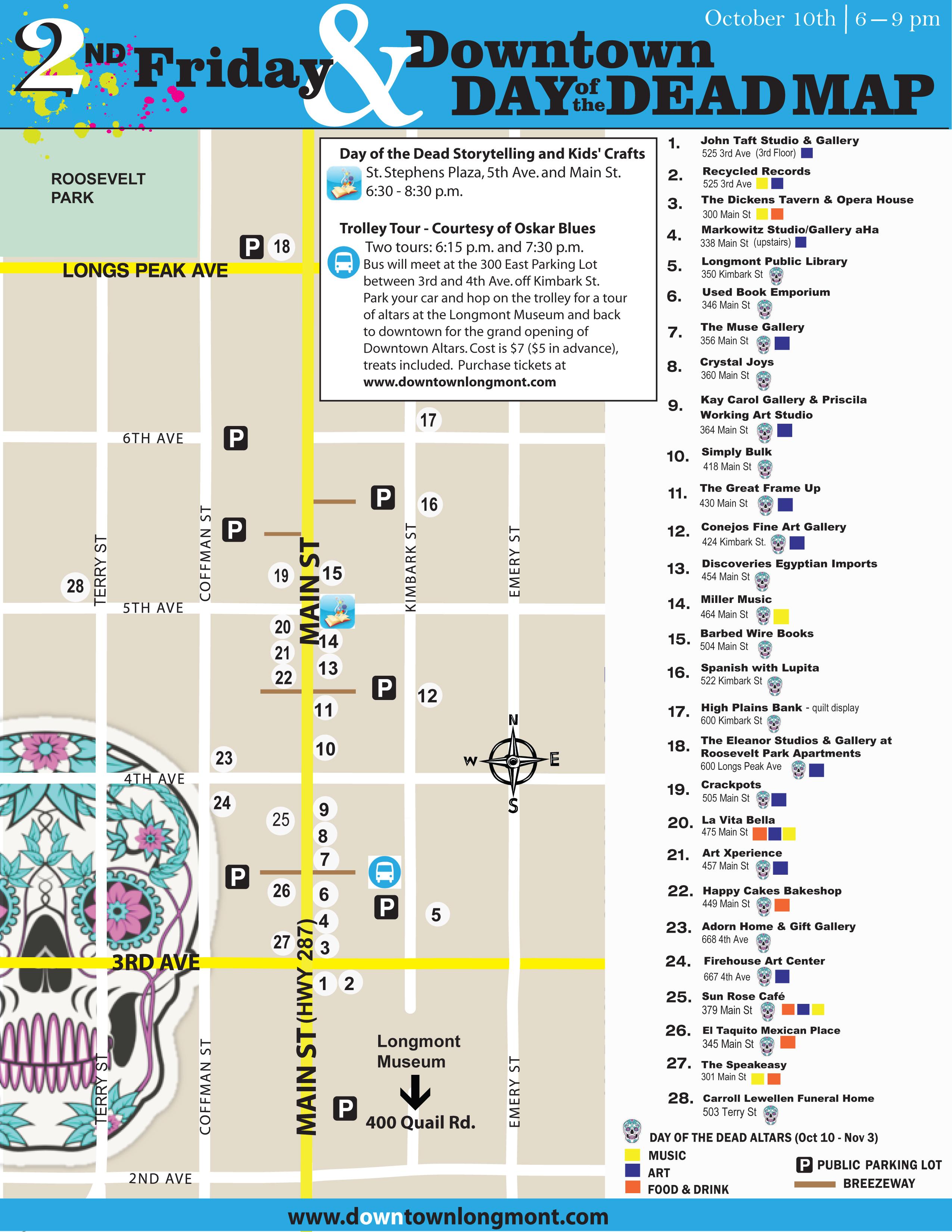 Day Of The Dead Downtown Altars Downtown Longmont Events