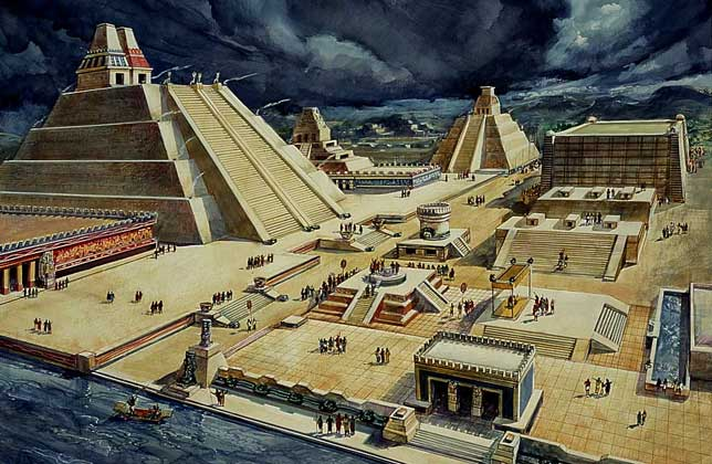 Tenochtitlán, the capitol of the Aztec empire