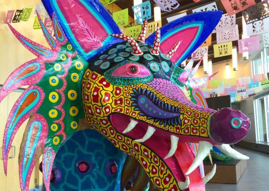 multi-colored fantasy creature called an alebrijes