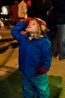 Girl Looking at Tree Lighting
