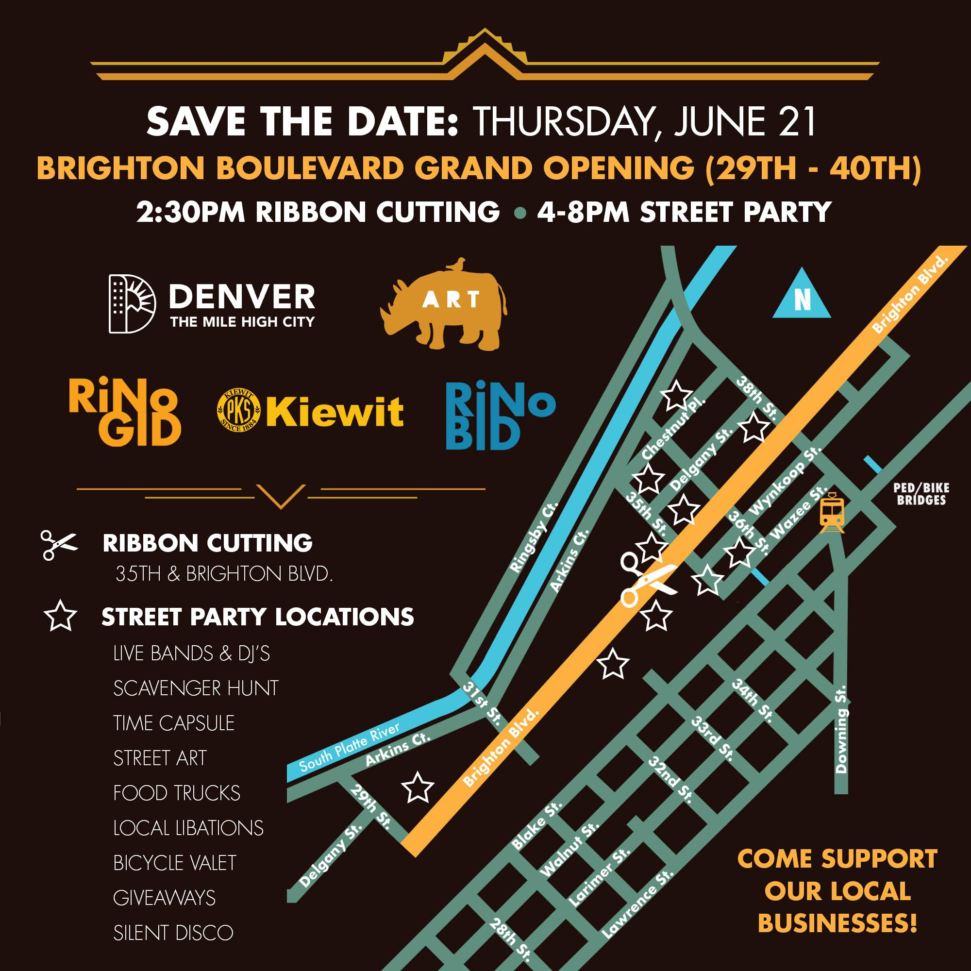 Brighton Boulevard Grand Opening Rino Art District Denver Co