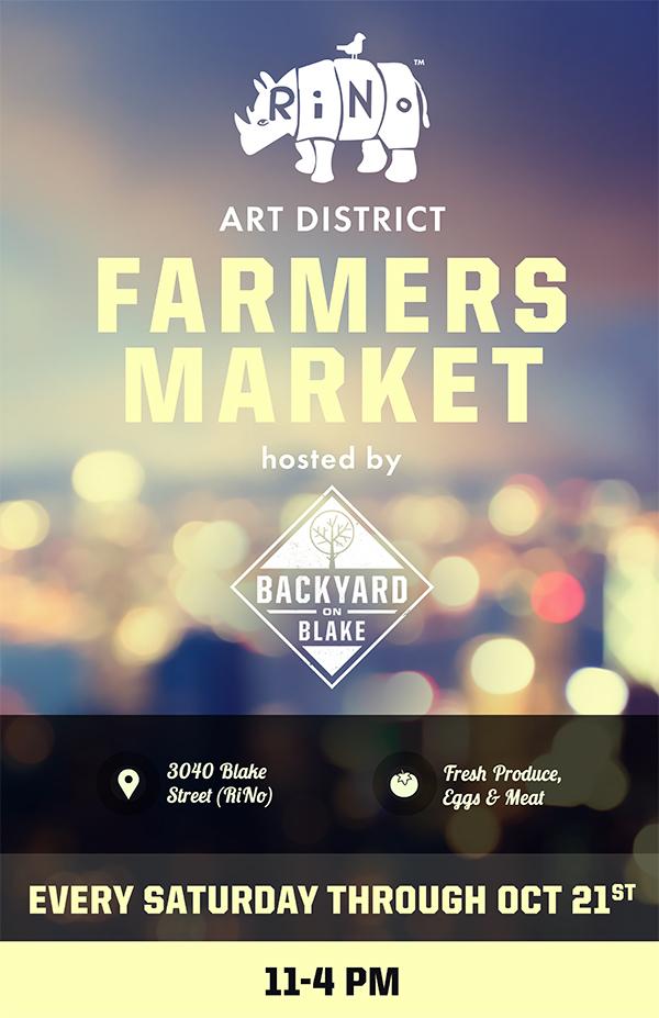 RiNo Farmers Market at Backyard on Blake/ RiNo Art District
