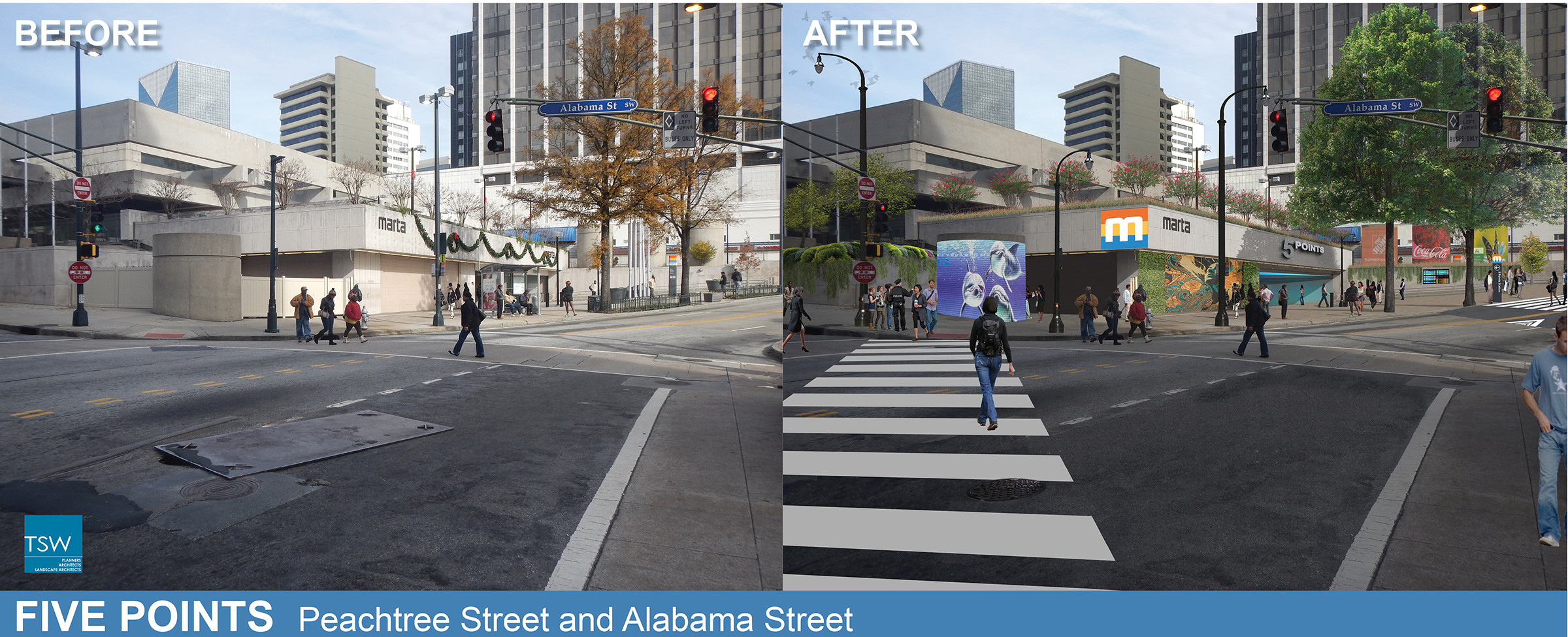 Beautiful Points Of Light Atlanta South Downtown Marta Stations Makeover .