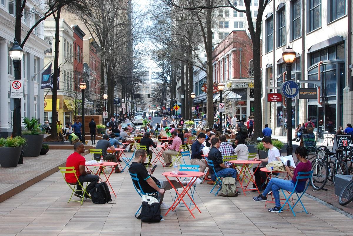 Broad Street Boardwalk Downtown Atlanta Ga