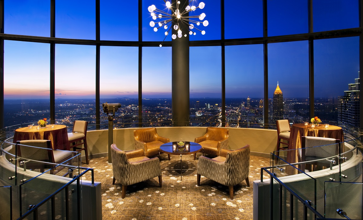 The Sun Dial Restaurant Bar View Downtown Atlanta Ga