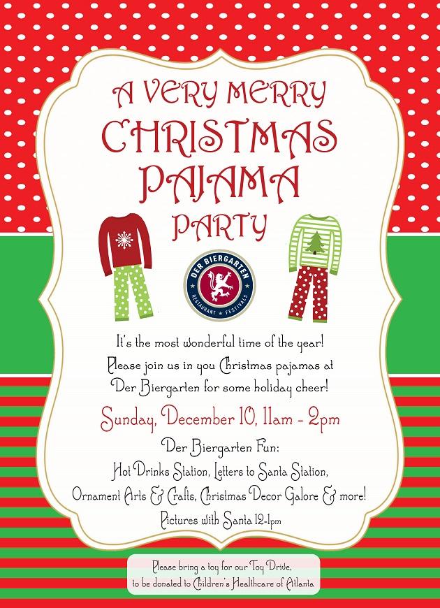 a very merry christmas pajama party - Christmas Pajama Party