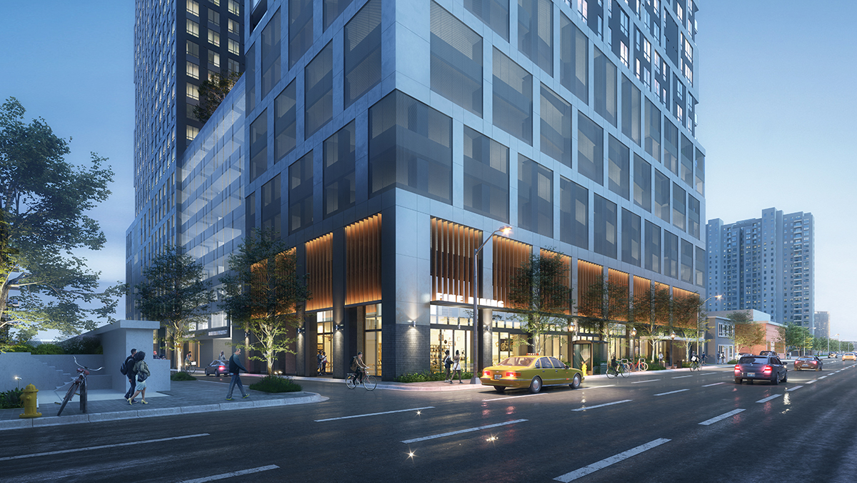 Toll Bros. returned to the Midtown DRC with revised plans for its project at 1018 West Peachtree St.