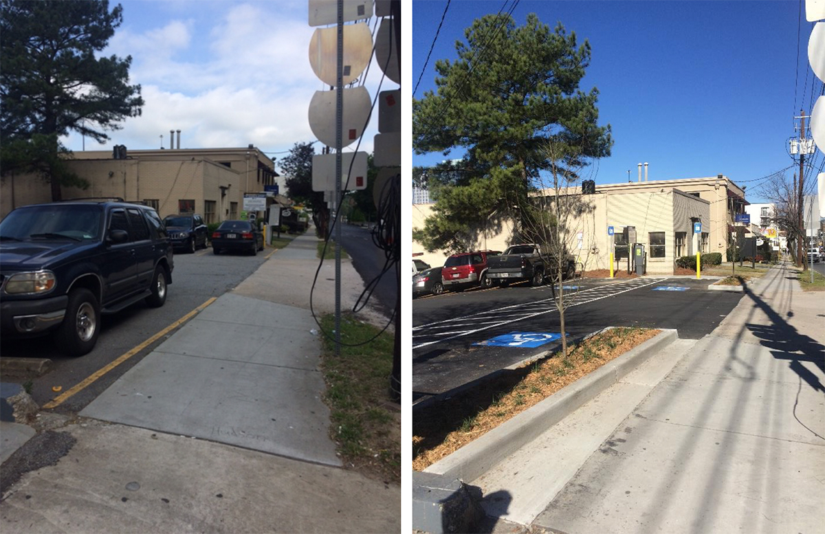 Three parking lots in Midtown recently have made significant strides to comply with design standards that help keep the district cleaner, safer and more beautiful.