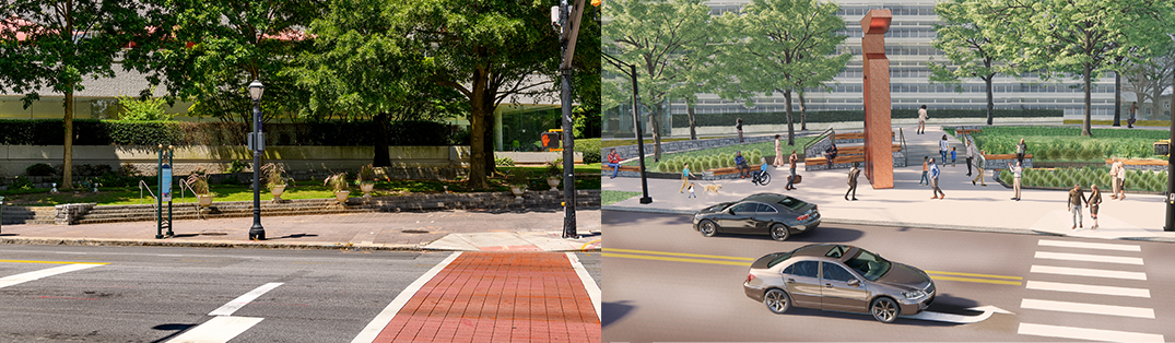 Midtown's Arts District Plaza at the intersection of Peachtree and 15th Streets is set to undergo big improvements starting next month.