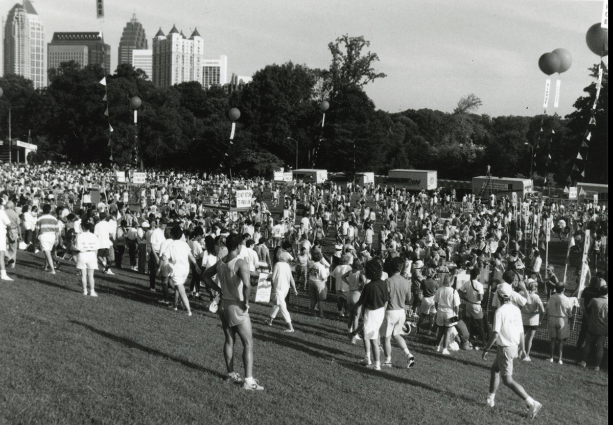 Finishers in Piedmont Park in 1992