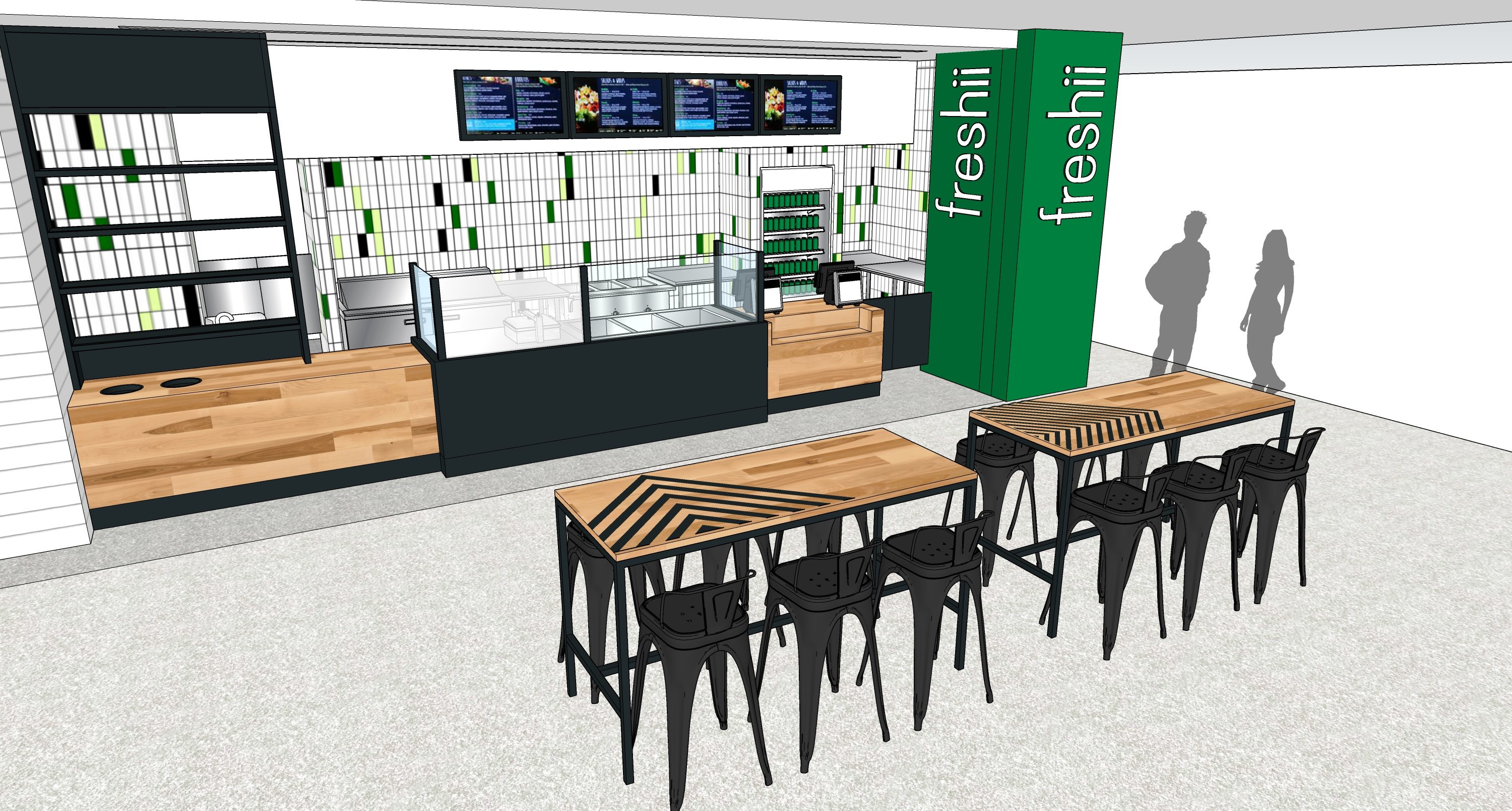 One of three recent announcements for the redeveloped Colony Square, Freshii is a fast-casual restaurant with globally inspired menu items.