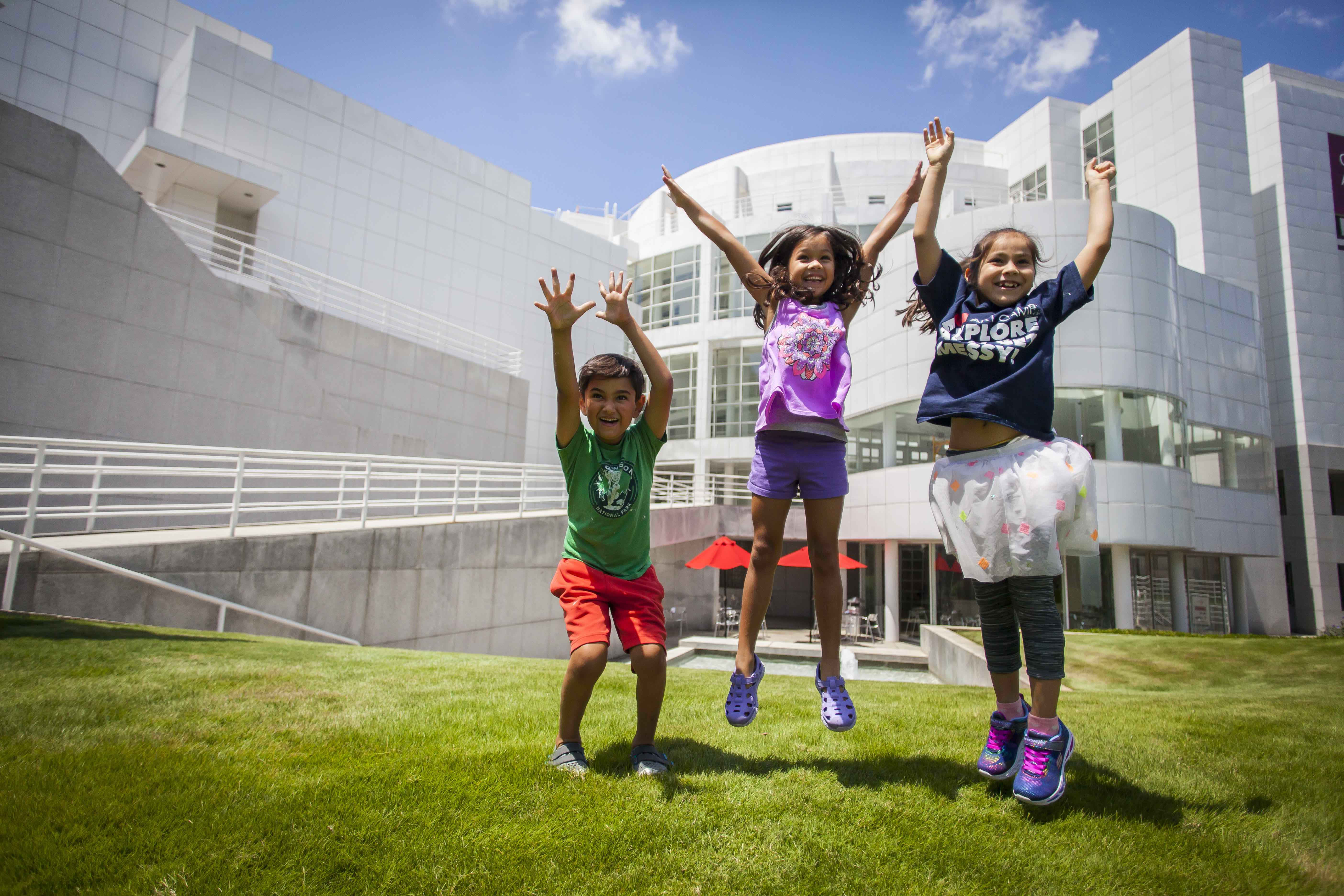 Children jumping at the High Museum.