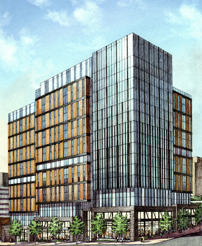 A rendering of Hub on Campus.
