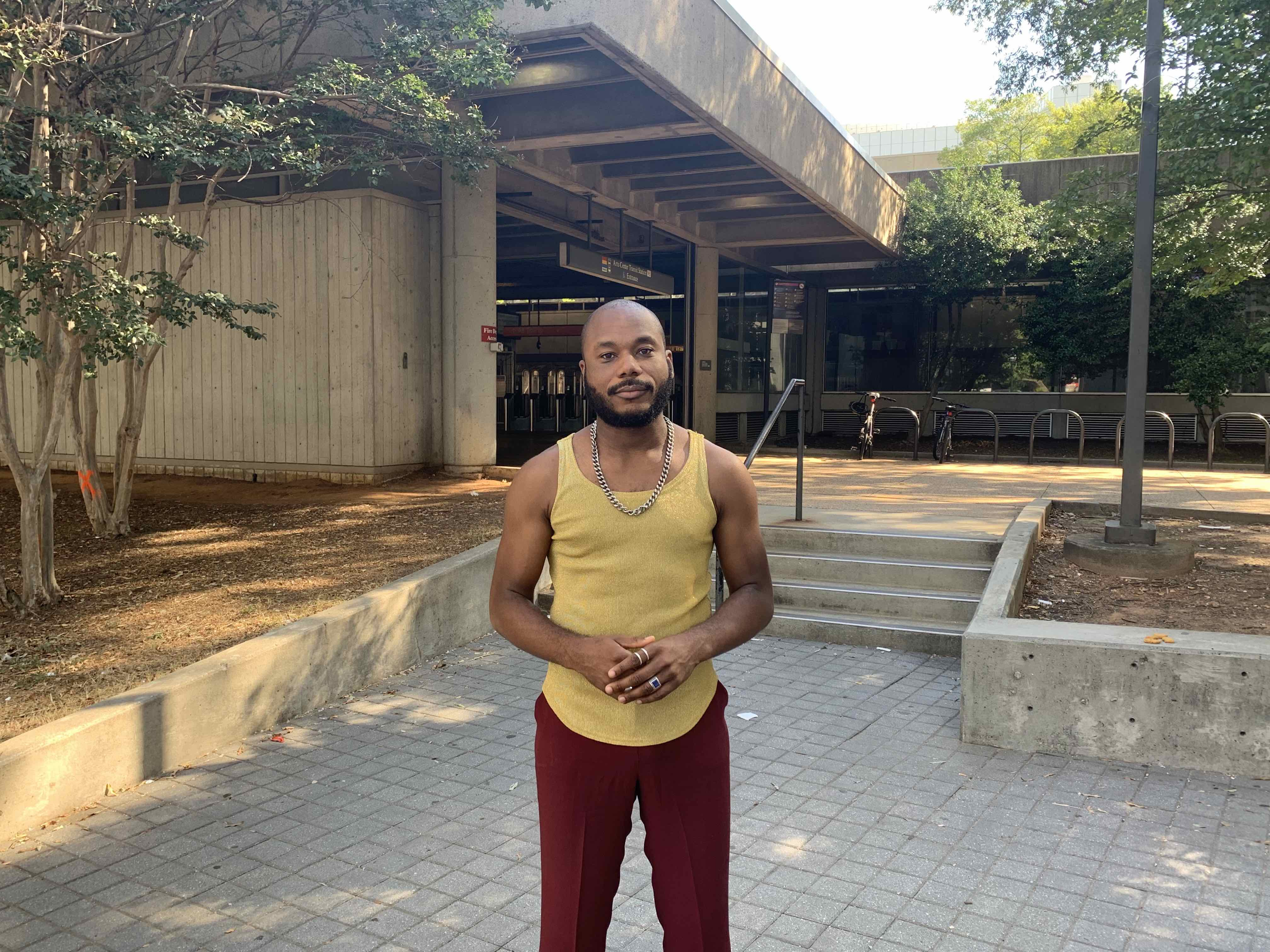 Branden Collins of The Young Never Sleep will create initial work for a color and light activation at the Arts Center MARTA Station.