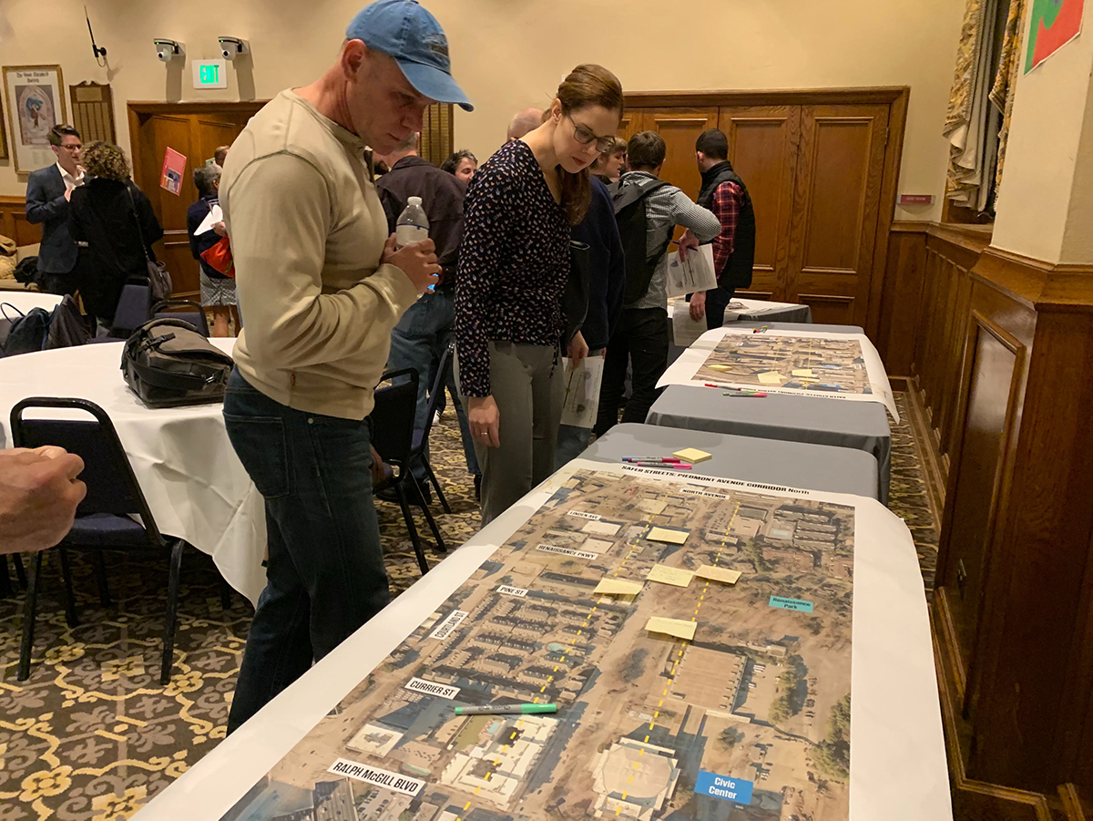 About 75 members of the community attended an open house on Feb. 3 that previewed plans for the West Peachtree and Spring Street Complete Street Project.