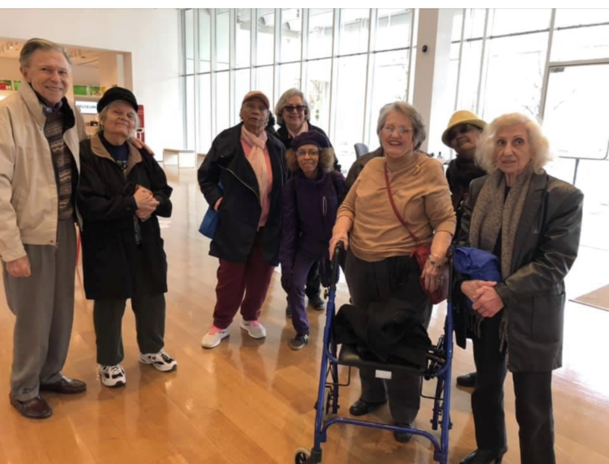 A group of Lutheran Towers residents on an outing to the High Museum of Art in Midtown.