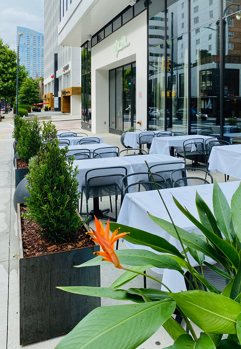 Lyla Lila has an all-new outdoor dining space.