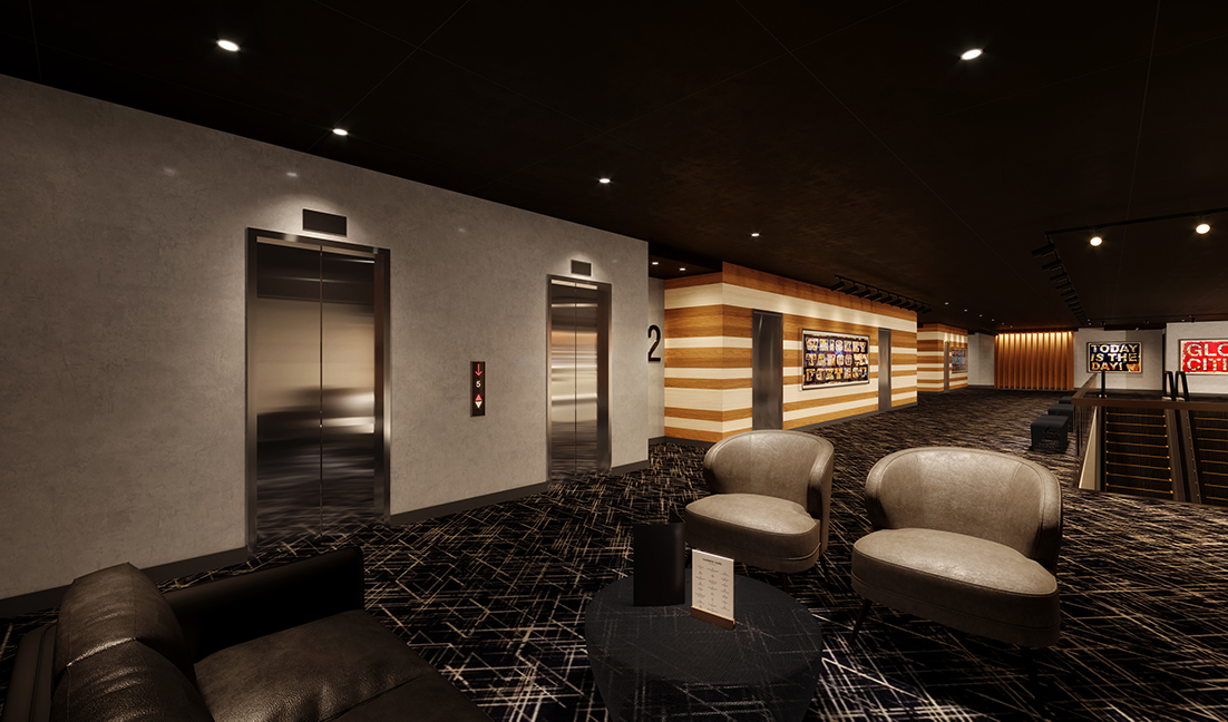 Lounge: Rendering of IPIC Atlanta's lounge area. Credit: IPIC Theaters, LLC