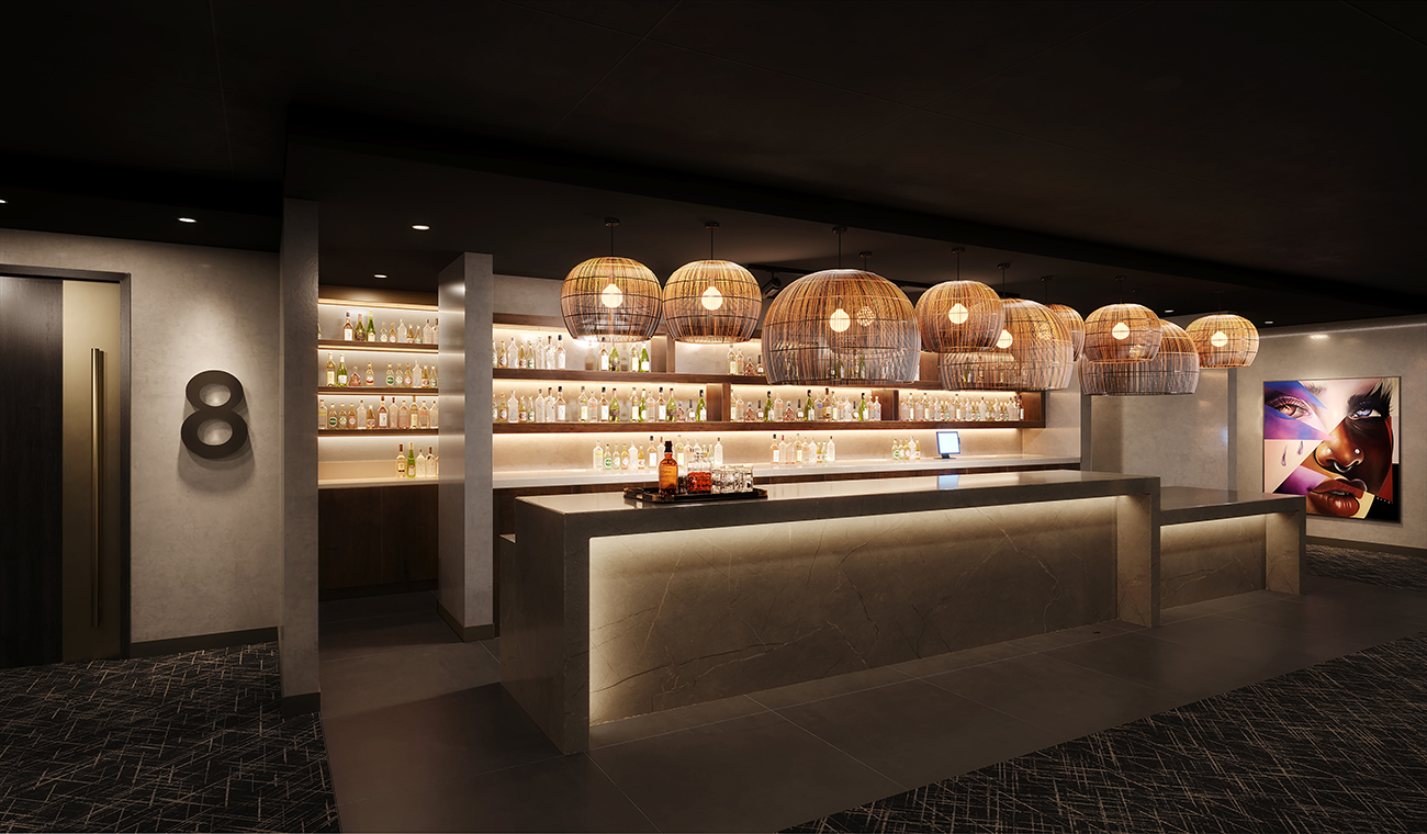 Main Bar:  Rendering of IPIC Atlanta's bar. Credit: IPIC Theaters, LLC