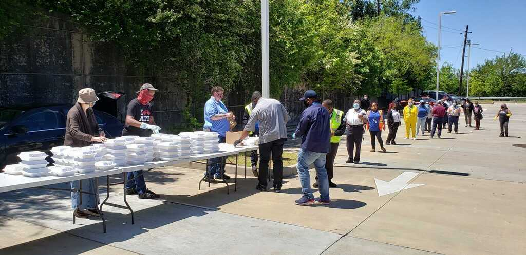 MARTA Army held a food drive for MARTA employees last year to help keep the operations running and show its support.