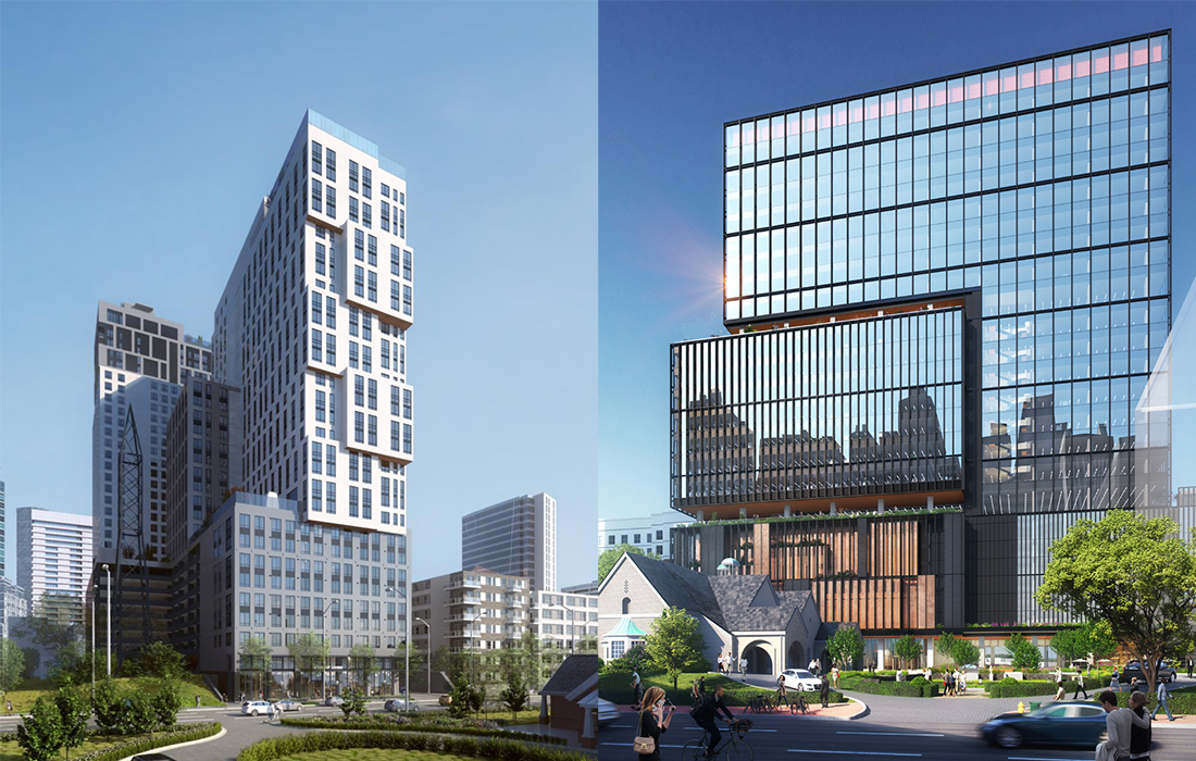 At the Midtown Development Review Committee meeting on May 11, Toll Brothers presented revisions to its mixed-use project at 1018 West Peachtree Street. Portman Holdings also returned with updates to its second phase within the mixed-use development planned for 1020 Spring Street.
