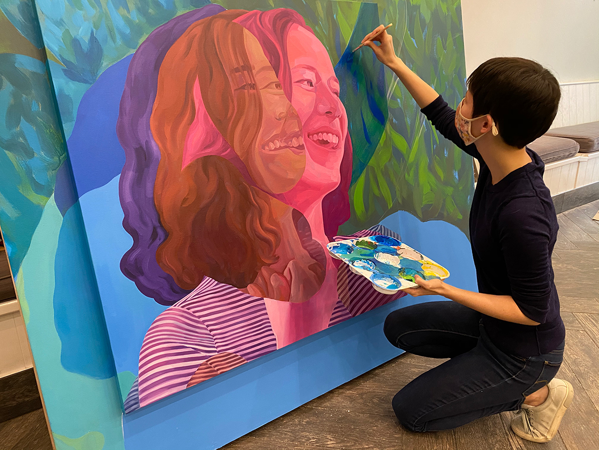 A preview of Melissa Huang's artwork, coming soon to 90 Peachtree Place.