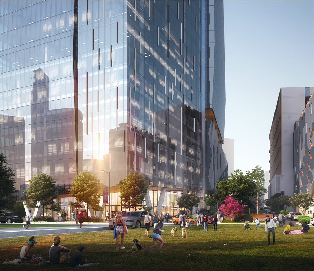 Master developer Granite Properties will extend the street known as Arts Center Way through the project to better connect Midtown's grid with better vehicular and pedestrian connectivity and offer access to the Arts Center MARTA Station.