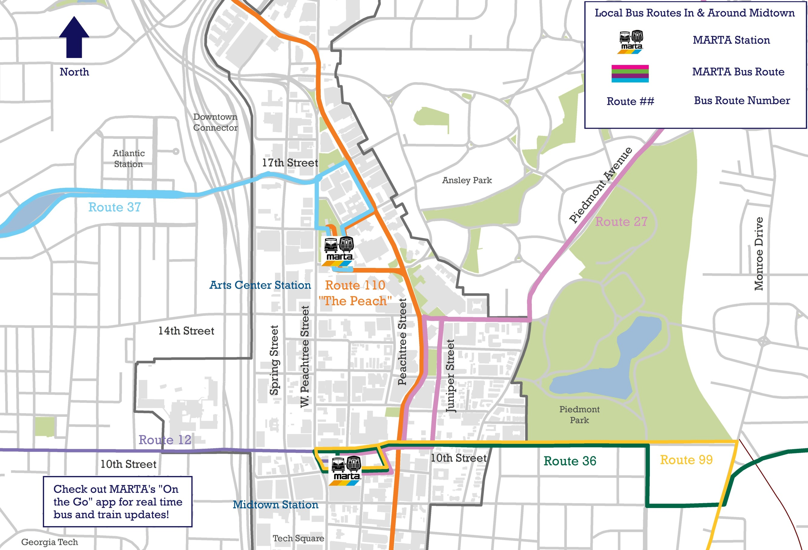 marta bus routes maps