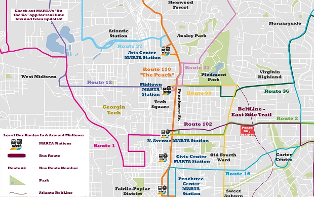 Midtown Marta Bus Routes