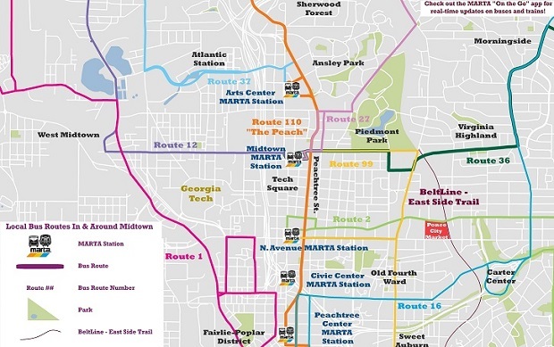 Click Here To Check Out A Few Maps That Highlight Midtown Local Bus Routes And All Of The Great Places They Can Take You
