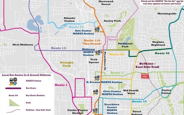 Intown MARTA Bus Routes Maps