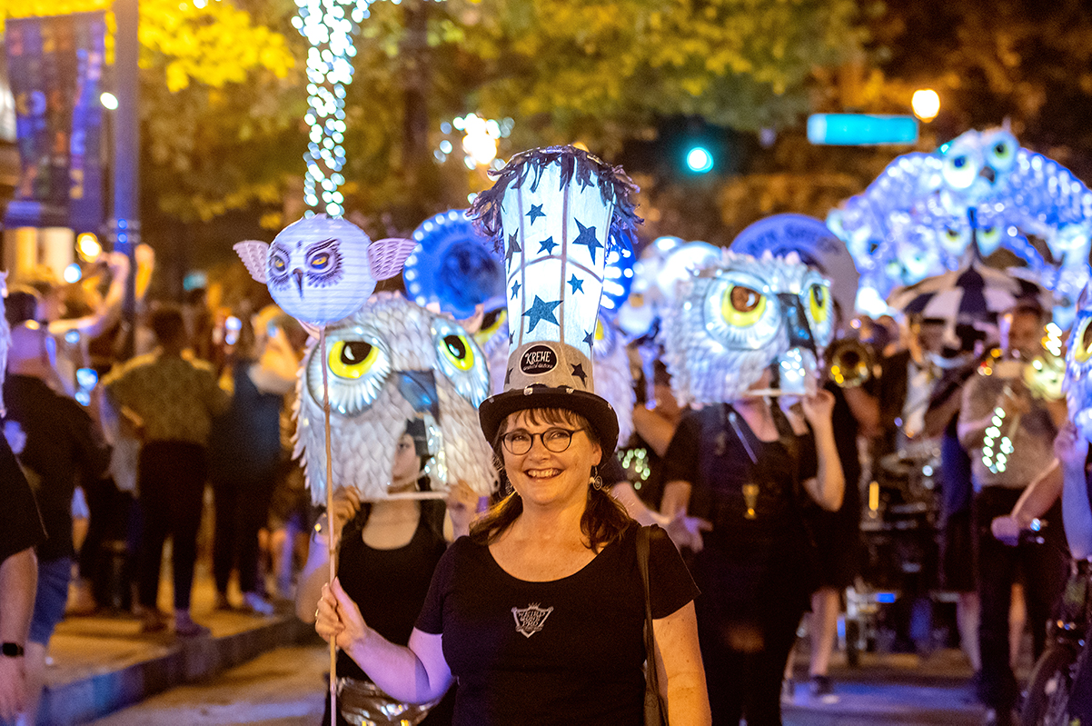 This year, about 1,000 attendees and participants flocked to the district for the event, which is estimated to be twice as many as the parade's first year.