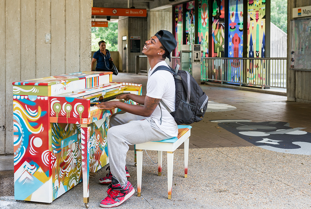 Midtown Alliance and MARTA now are gearing up for major enhancements of the Arts Center Station, and the initiative is kicking off with a restoration of the Porch's piano, which made its debut on the east side of the plaza in 2016.