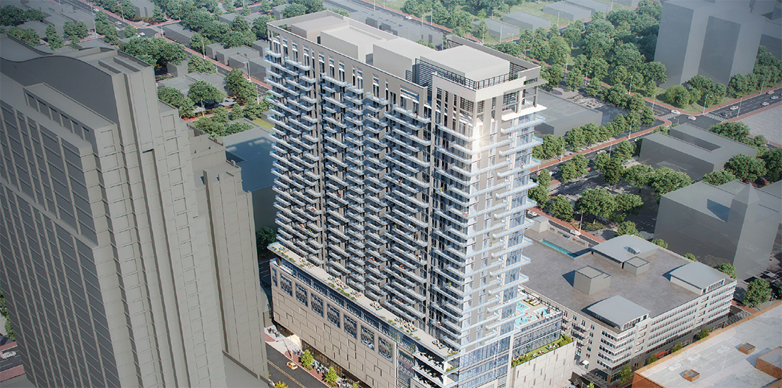 At the Midtown Development Review Committee (DRC) on August 10, Property Markets Group presented updates to their proposed mixed-use project at 811 Peachtree Street.