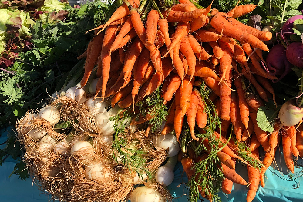 When possible, Devereux and Brown use locally grown produce from their own gardens and farmers markets in their dishes.