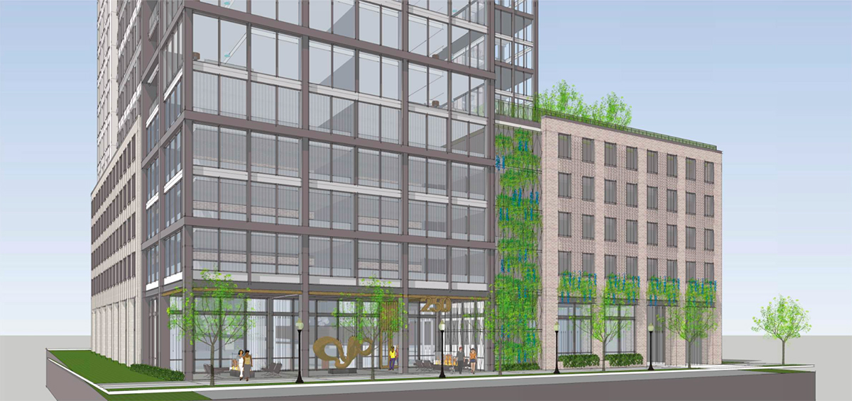 The Midtown Development Review Committee (DRC) saw a follow-up application from Toll Brothers for a 17-story residential project at 250 14th Street.