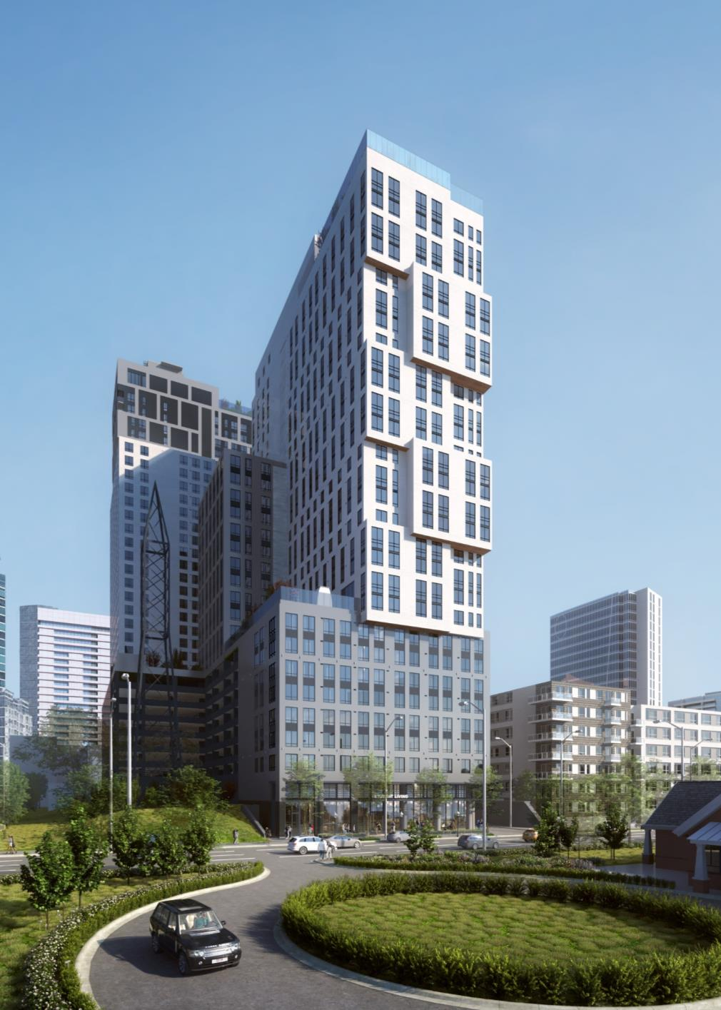 A rendering of Toll Brothers' 1018 West Peachtree.