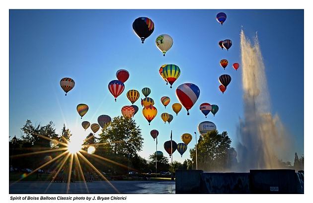 spirit of boise balloon classic downtown boise id