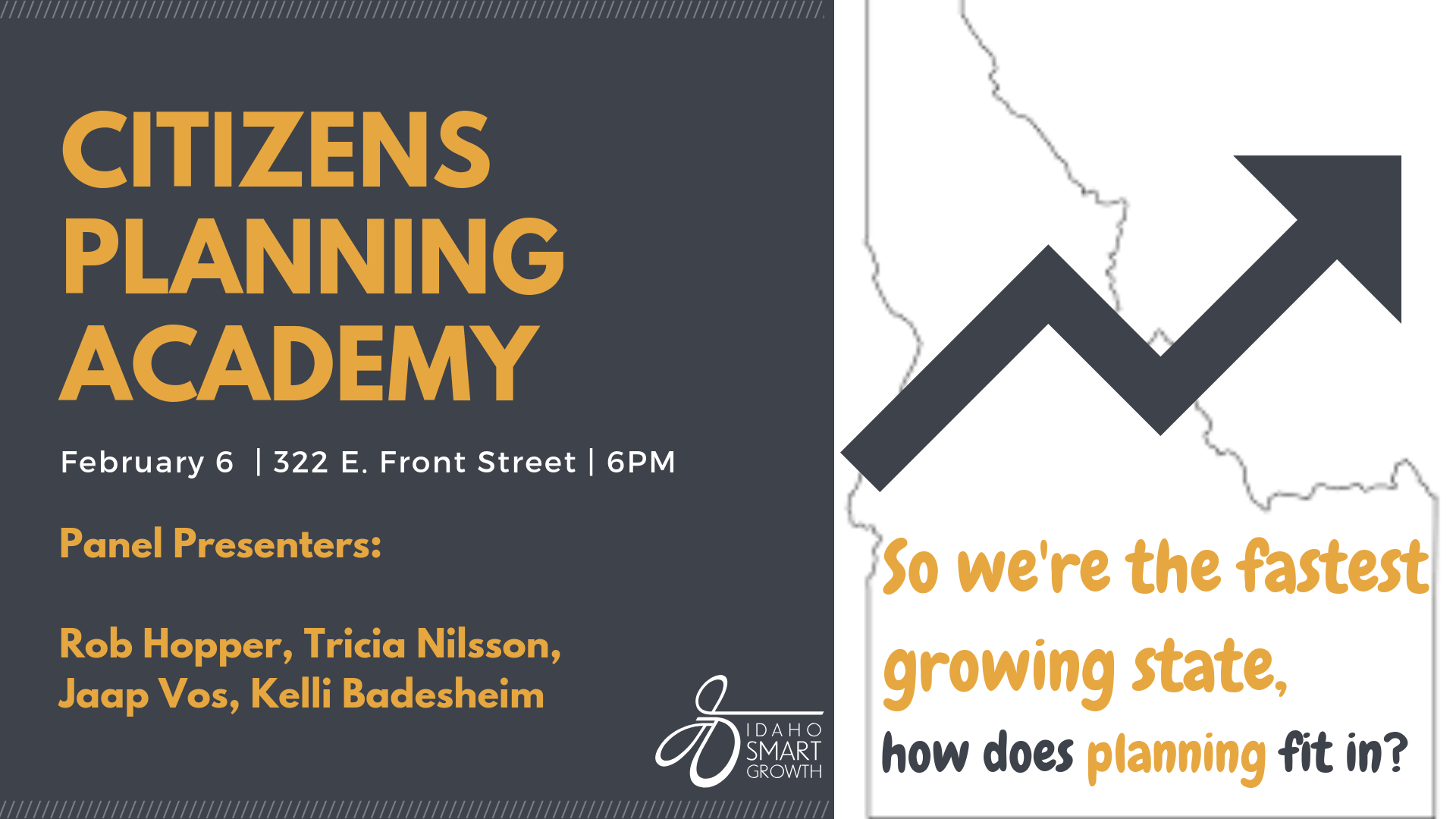 Citizens Planning Academy: So we're the fastest growing