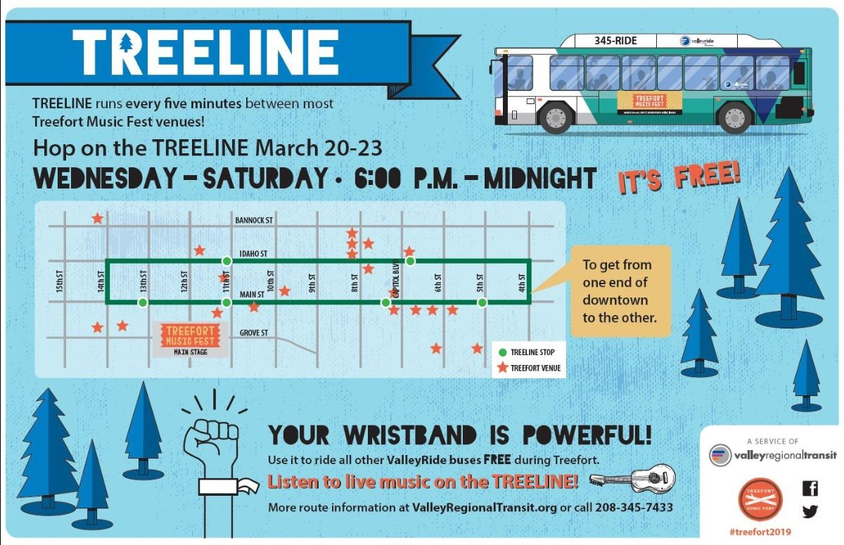 Free Public Bus & GreenBike Rides for Treefort! | Downtown