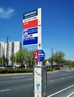 picture of the K6 bus stop at 6800 New Hampshire Avenue
