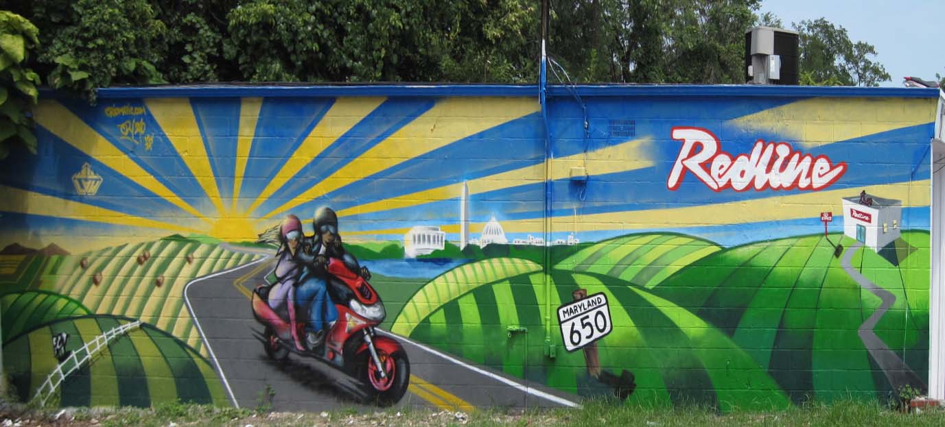 Redline Mural by Juan Pineda