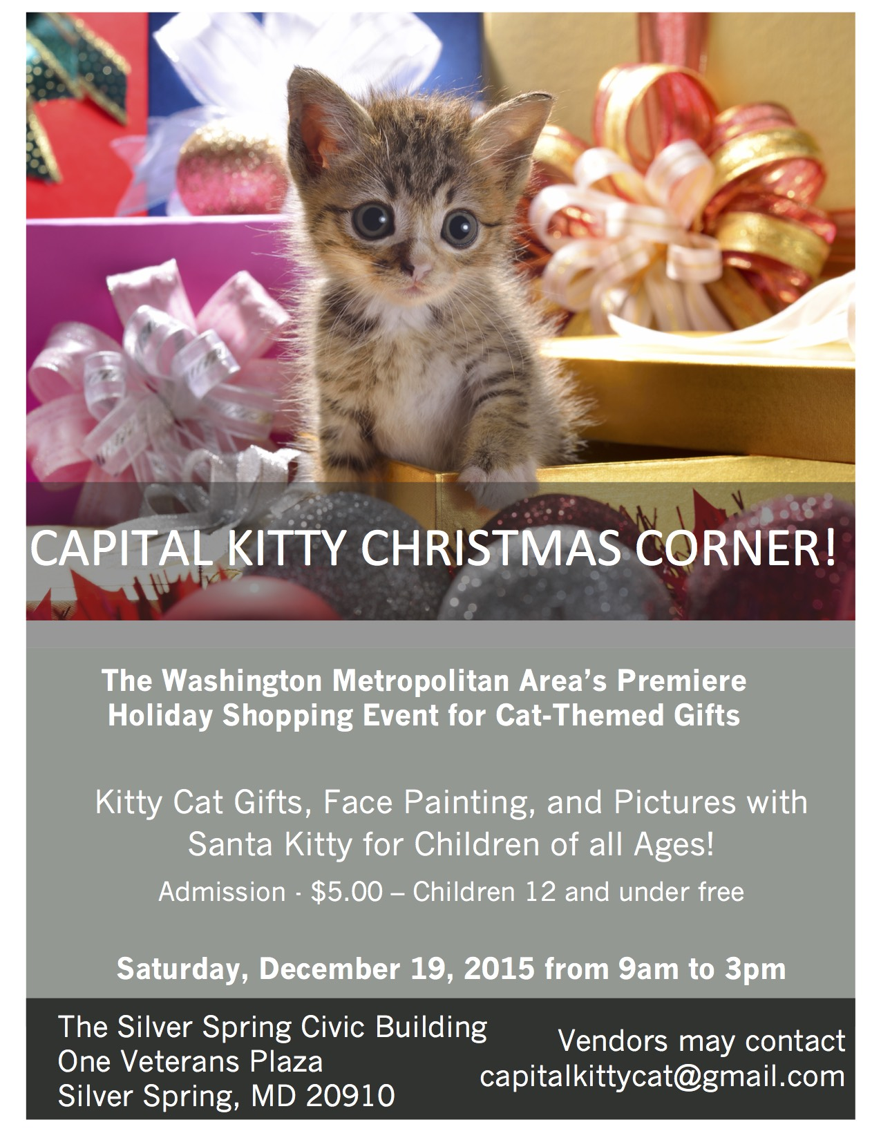 The Capital Kitty Christmas Corner at Silver Spring Civic Building ...