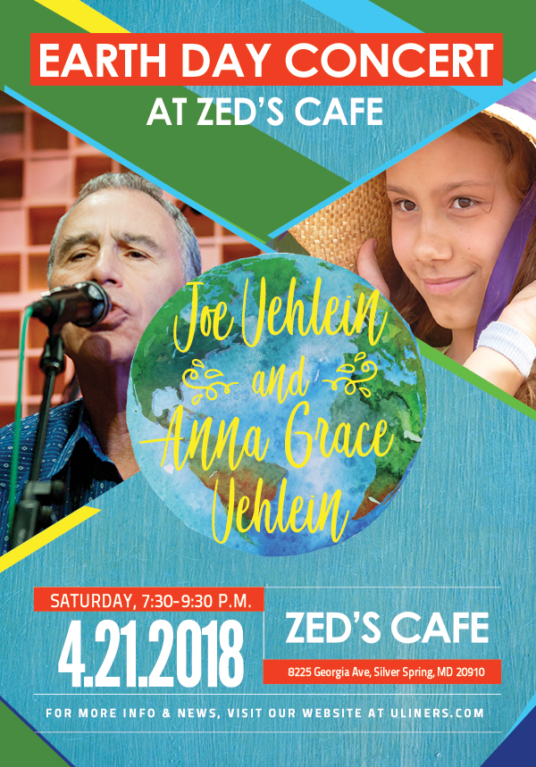 Joe & Anna Grace Uehlein Sing & Strum! Earth Day at Zed's Cafe!