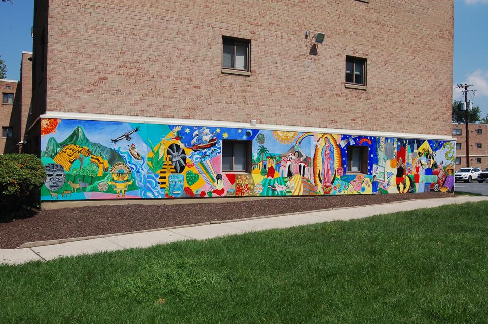 Amherst Square Community Mural, Jorge Luis Somarriba