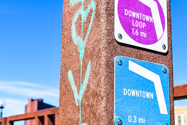 Downtown trail system